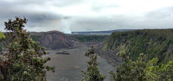 Kilauea Iki Crater in Hawaii Volcanoes National Park